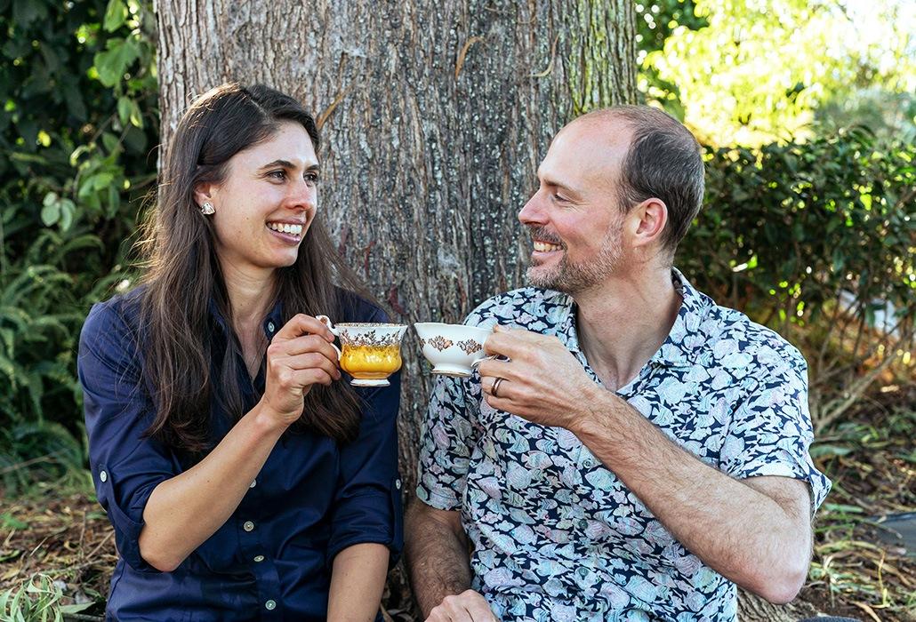 Enjoying Tea - Maui Tea Fram